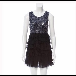 Alice & Olivia sequin top cocktail dress